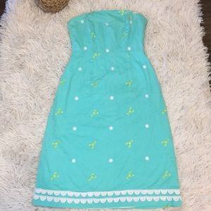 •Lilly Pulitzer • Teal lobster dress 2